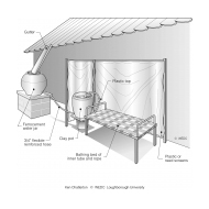 DP2-12 Rainwater harvesting with bathing bed and screen (Artist: Chatterton, Ken)
