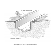 CPD 7-2 Section of a drain for evacuating stormwater and sullage (Artist: Chatterton, Ken)