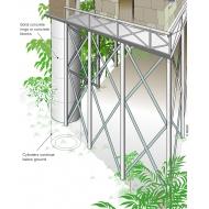 LCS03 An elevated latrine - colour (Artist: Chatterton, Ken)
