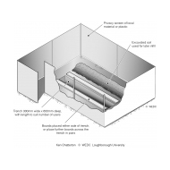 A shallow trench latrine ES-DL 02 (Artist: Chatterton, Ken)