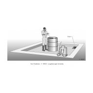Cemented area for washing equipment used for insecticide spraying ES-DL 46 (Artist: Chatterton, Ken)