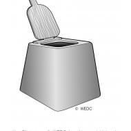 Concrete prefabricated pedestal 1 ES DL 05 (Artist: Chatterton, Ken)