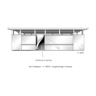 Deep trench latrines front view ES DL 03 (Artist: Chatterton, Ken)