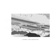 Main highway destroyed by earthquake ES-DL 54 (Artist: Chatterton, Ken)