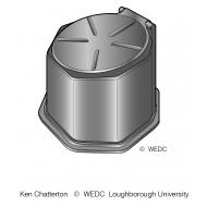 Plastic prefabricated pedestal 3 ES DL 07 (Artist: Chatterton, Ken)
