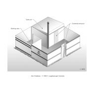 Screened toilet and bathing unit ES DL 10 (Artist: Chatterton, Ken)
