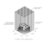 Temporary bucket latrine ES-DL 01 (Artist: Chatterton, Ken)