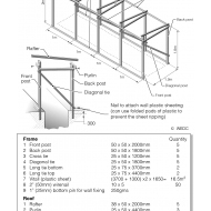 Timber frame for trench latrine superstructure (Artist: Chatterton, Ken)