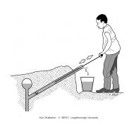 Rower pump - man standing without annotations (Artist: Chatterton, Ken)
