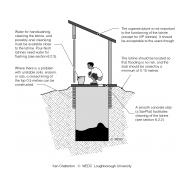 CPD 6-3 Simple pit latrine with bucket (Artist: Chatterton, Ken)