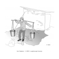 03-U06 FZ02 Carrying buckets of excreta using a  yoke (Artist: Chatterton, Ken)