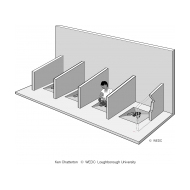 03-U07 FA01 Latrine with short dividing walls (Artist: Chatterton, Ken)