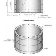 Pre-cast concrete ring pit liner (Artist: Chatterton, Ken)