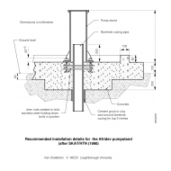 WLC0720 Afridev pumpstand details (Artist: Chatterton, Ken)