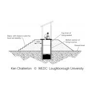 LCS03 A raised latrine - section (Artist: Chatterton, Ken)