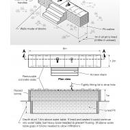 Raised block latrine (Artist: Chatterton, Ken)