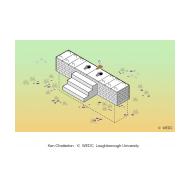 Raised block latrine isometric (Artist: Chatterton, Ken)
