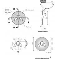 Ferrocement slab with pour-flush bowls (Artist: Chatterton, Ken)