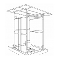 PVC pipe superstructure frame (Artist: Chatterton, Ken)