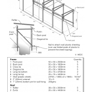 Timber-frame for trench latrine superstructure (Artist: Chatterton, Ken)