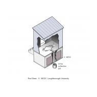 Double-vault urine-diverting latrine isometric (Artist: Chatterton, Ken)