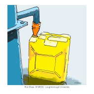 Funnel and jerrycan - colour (Artist: Shaw, Rod)