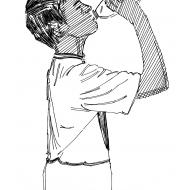 Drinking from a water-bottle 1 (Artist: Shaw, Rod)