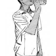 Drinking from a water-bottle 2 (Artist: Shaw, Rod)
