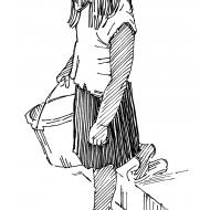 Girl carrying a bucket 1 (Artist: Shaw, Rod)