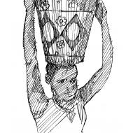 Girl carrying a bucket 3 (Artist: Shaw, Rod)