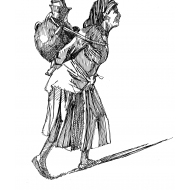 Woman carrying a water pot on her back 1 (Artist: Shaw, Rod)
