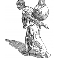 Woman carrying water in a clay pot (Artist: Shaw, Rod)