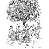 Community meeting under a tree v2 (Artist: Shaw, Rod)