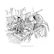 Widows sewing (Artist: Shaw, Rod)