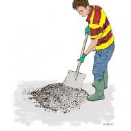 Mixing concrete - colour (Artist: Shaw, Rod)