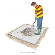 Mixing concrete 11 - Continuing to mix - colour (Artist: Shaw, Rod)