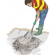 Mixing concrete 12 - Testing the mix - colour (Artist: Shaw, Rod)