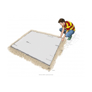 Mixing concrete 1 - Laying out the board - colour (Artist: Shaw, Rod)