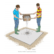 Mixing concrete 4 - Emptying the contents of the container - colour (Artist: Shaw, Rod)