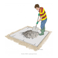 Mixing concrete 6 - Mixing the aggregates and cement together - colour (Artist: Shaw, Rod)