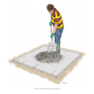 Mixing concrete 9 - Mixing the pile again - colour (Artist: Shaw, Rod)