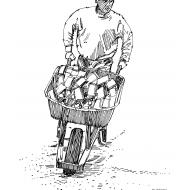Using a wheelbarrow for heavy objects (Artist: Shaw, Rod)