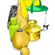 Assorted pots - colour (Artist: Shaw, Rod)