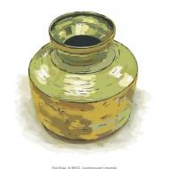 Brass pot - colour (Artist: Shaw, Rod)