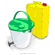 Two water containers - colour (Artist: Shaw, Rod)