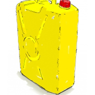 Yellow jerry can - colour (Artist: Shaw, Rod)