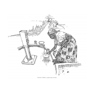 Disabled woman collecting water from a handpump (Artist: Shaw, Rod)