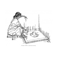 Disabled woman using a dish-washing-area (Artist: Shaw, Rod)