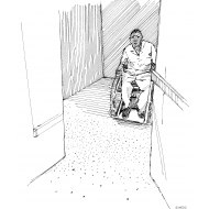 Latrine with enough space for wheelchair (Artist: Shaw, Rod)
