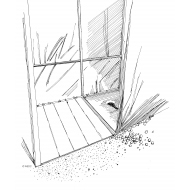 Latrine with space for wheelchair alongside (Artist: Shaw, Rod)